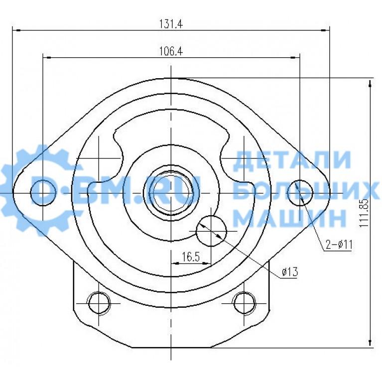 Насос масляный шестеренный 9 зубьев гидросистемы охлаждения двигателя 6650678 A16.0L 36003 A16L 36006 A16.1L36640 A16.1L34725 34727 30574 20A16X901-9T