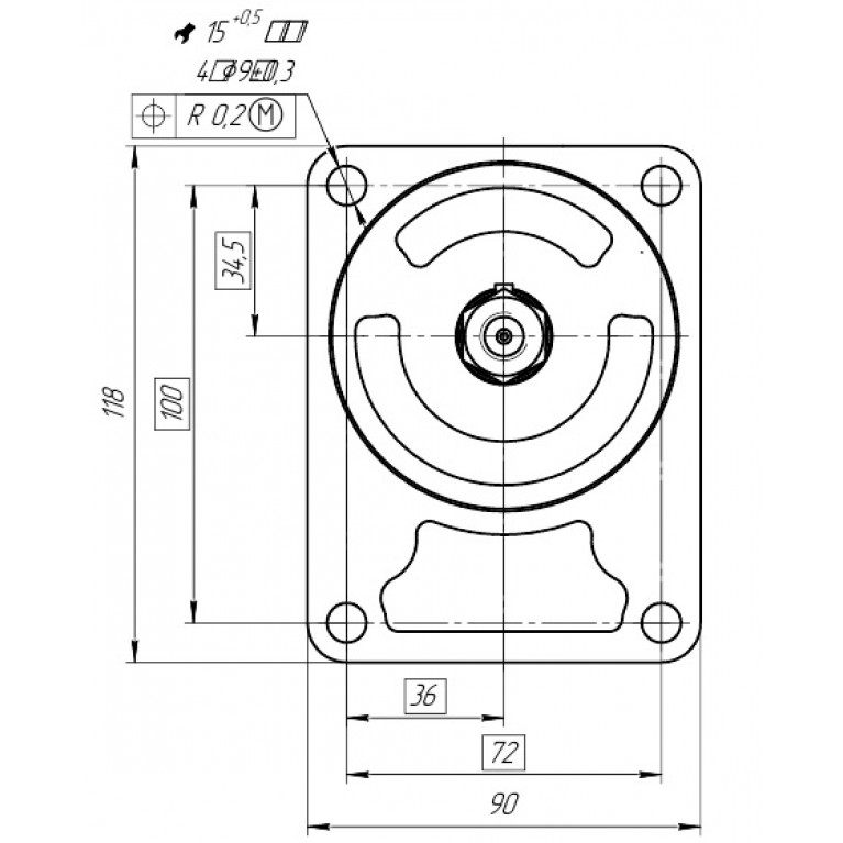 Гидромотор в сборе с клапаном 24V 20R22X021MAV-C24 аналог 0511725028, 0511725021, 81.06660.6058, 81066606058, Q20A22X021MA, 20R220X021MA-B 20R22X021MAV-C24