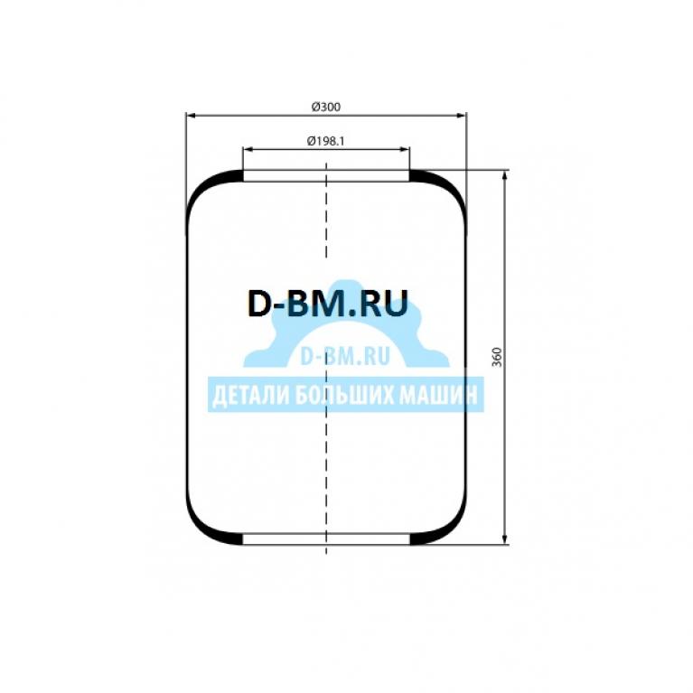 Пневмоподушка цилиндр DAF/Neoplan 360-300-198.1/198.1 3662 3662