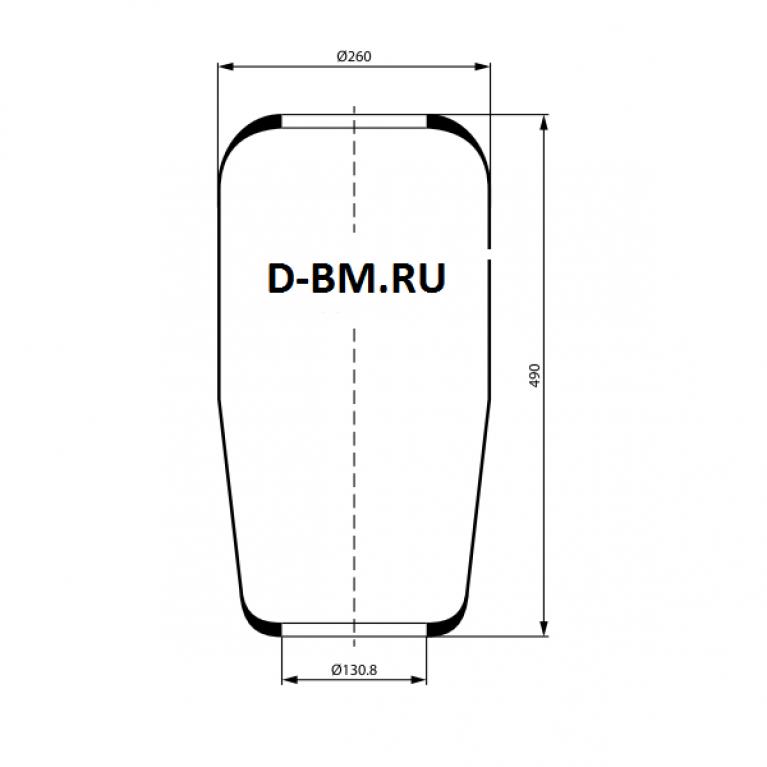 Пневмоподушка/пневмобаллон подвески конус Volvo 489x260x130.8 31421