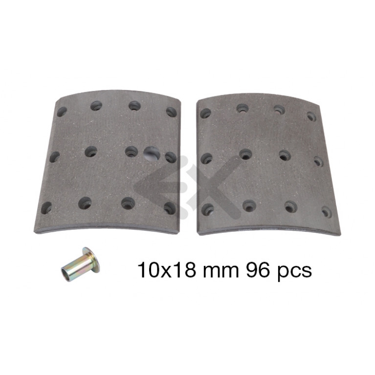 Накладки тормозные STD 410х220 196990E EXOVO