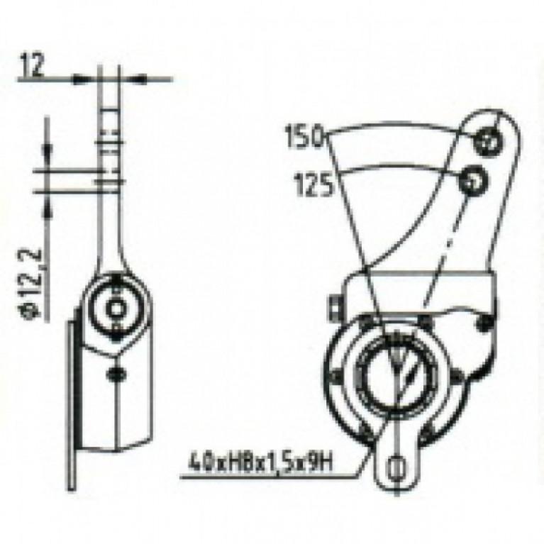 Рычаг тормоза регулировочный / МЗТА РТ-40-12 / 103-3501136-10 / 64226-3501136-010