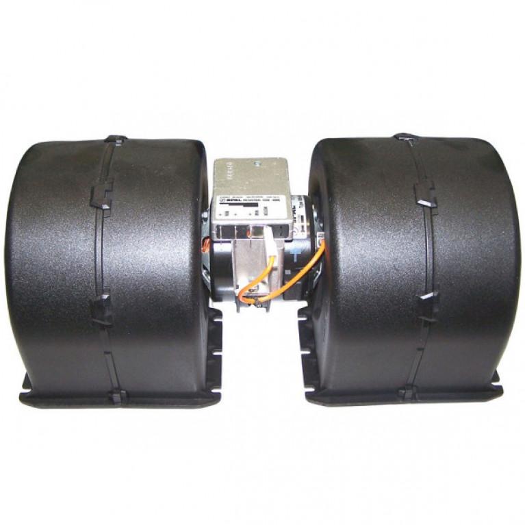 Электродвигатель отопителя двойной, 24V для МАЗ, ЛИАЗ, ПАЗ, KONVEKTA, MAN, SCANIA, SPAL 009-B40-22 24V GR 009B402224VGR