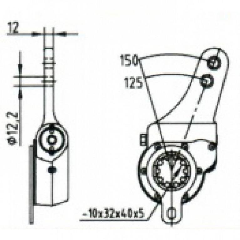 Рычаг тормоза регулировочный / МЗТА РТ-40-11 / 103-3501136 / 64226-3501136 РТ4011 РТ4011