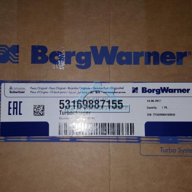 Турбокомпрессор Borgwarner 53169887155 MB Atego OM904LA A9040967699 / 9040966399 53169887155