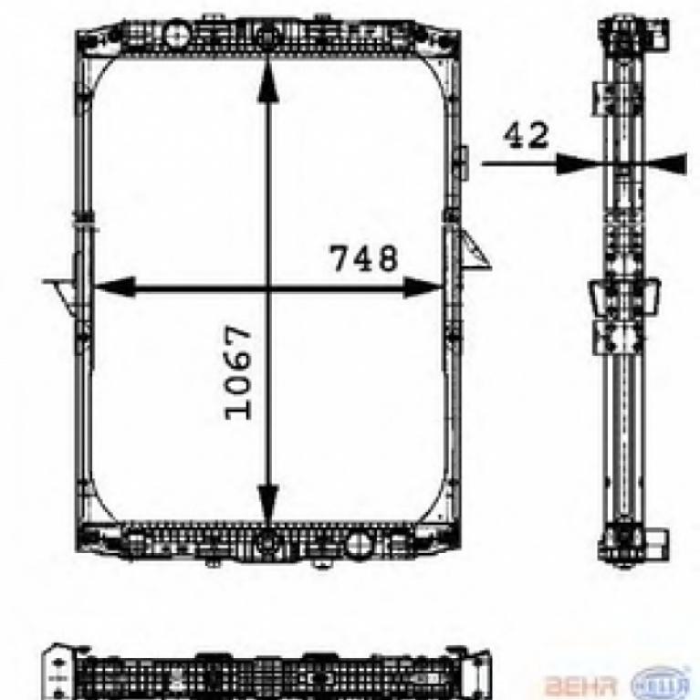 Радиатор системы охлаждения DAF 95/XF95 1858774/1858772/614170 NISSENS