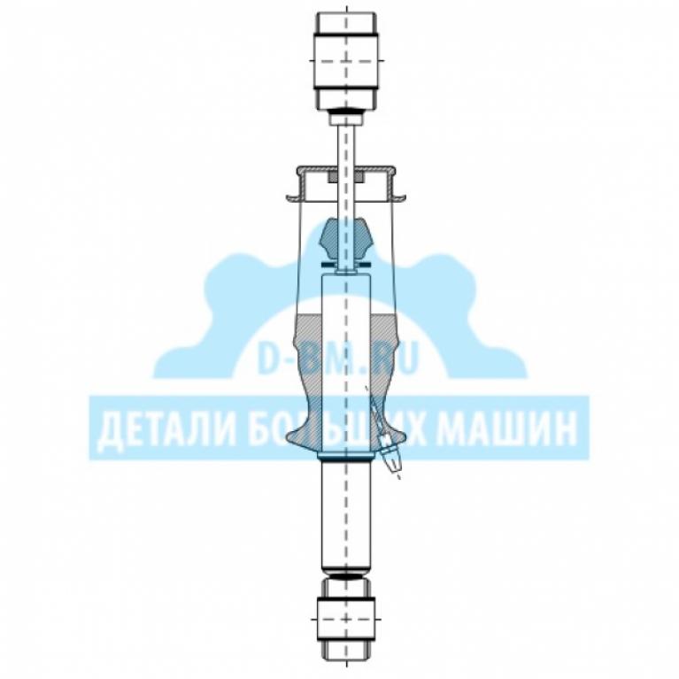 Амортизатор кабины передний воздушный с подушкой Ивеко Стралис/IVECO Stralis 500357351 17000112 AIRTECH 17000112