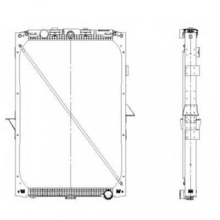 Радиатор системы охлаждения DAF XF105 05г>Н.В 1861737/509559 NRF 509559