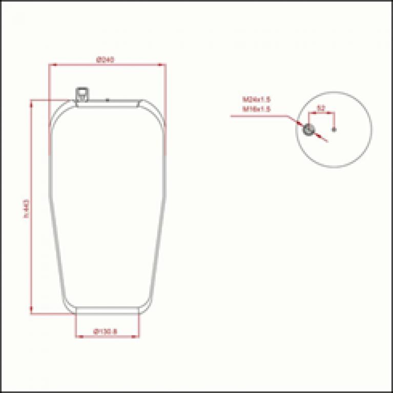 Пневморессора MERCEDES Actros (без стакана) (1шп-шт. M16/М24) ED 14390-01 TRUCKEXPERT