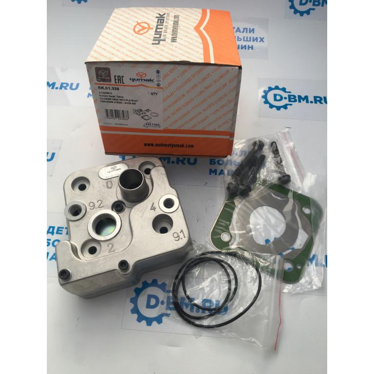 Головка блока цилиндров компрессора двигателя Mersedes-Benz OM906LA OM904LA и МАЗ, RK.01.329