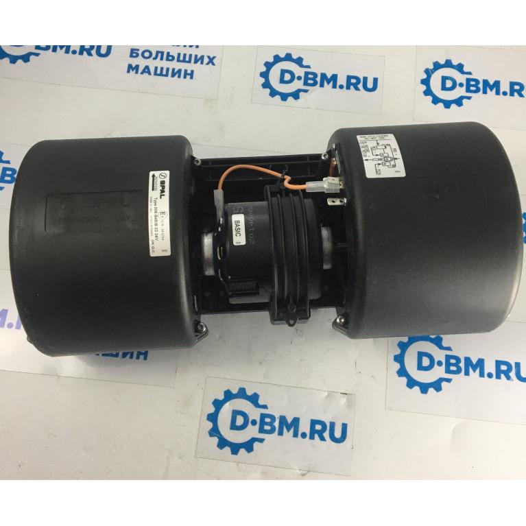 Вентилятор отопителя центробежный двойной 3х скоростной с резистором без колодки SPAL 24V