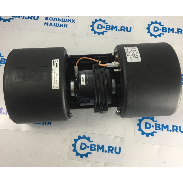 Вентилятор отопителя центробежный двойной 3х скоростной с резистором без колодки SPAL 24V 006B45B22 24V RPA3VCV