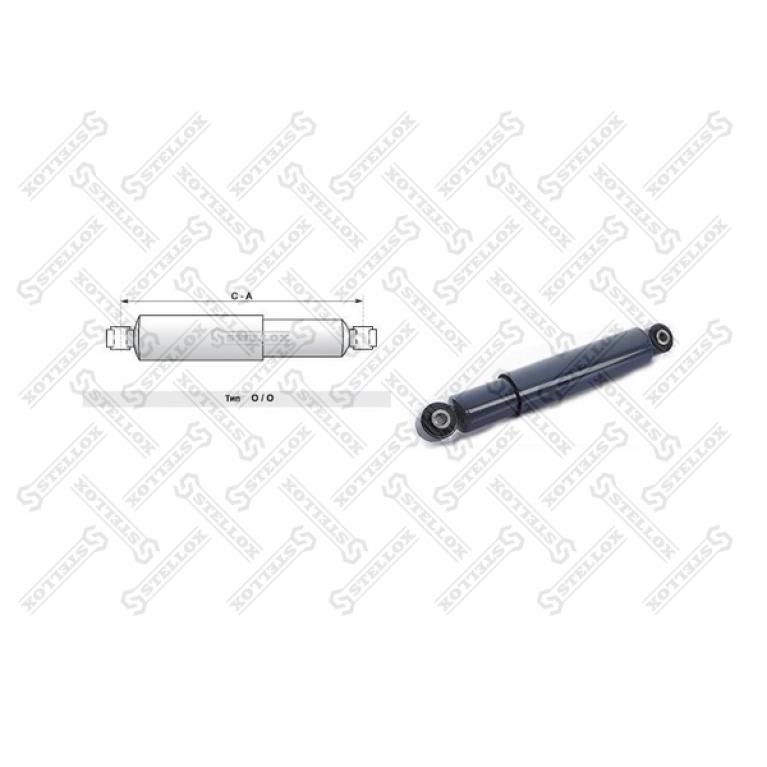 Амортизатор подвески прицепа SCHMITZ 267-383 O/O 16x58 16x58 317769 SACHS 317769