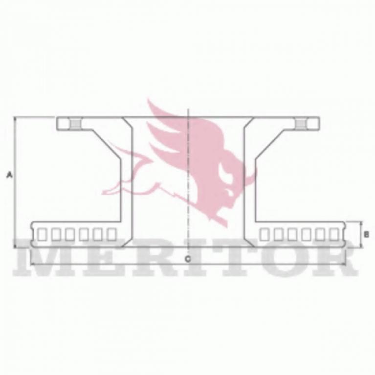 Тормозной диск передний 330x34 MAN L2000 8.150-8.153-9.223 MBR5012
