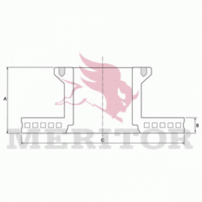 Тормозной диск передний 324/135x30/102 10n-158-M14x1.5 MAN L2000 (ОСЬ PERROT -96) MBR5010