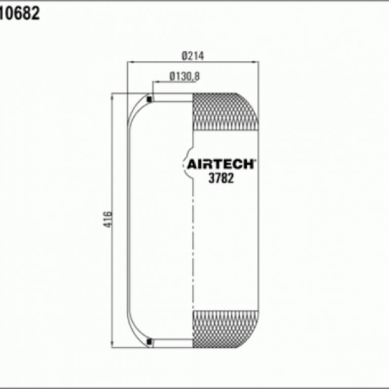 Пневмоподушка цилиндр 412-210-130.8/130.8 MB,Iveco,RVI 3782