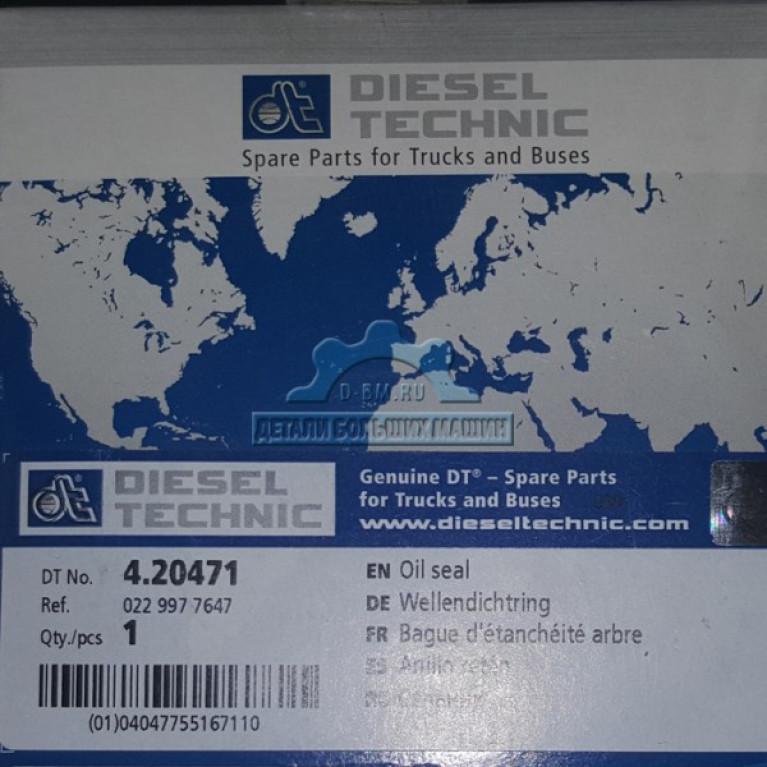 Сальник DT 4.20471 78х104х11 коленвала передний Diesel Technic
