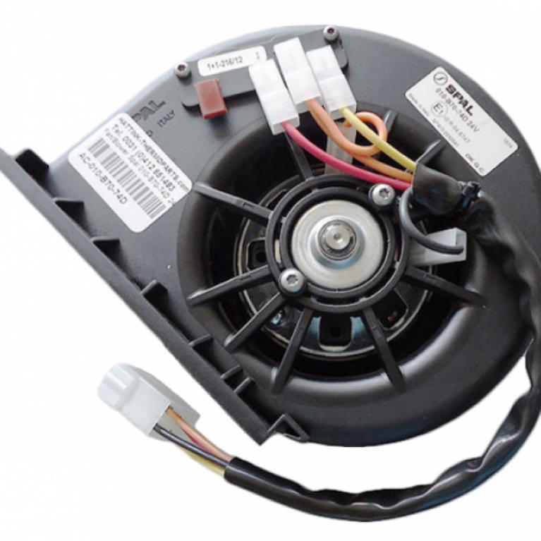 Электродвигатель отопителя центробежный одиночный, 24V МАЗ 103/106/203/206 010B7074D24VGRRPA3VCB SPAL 010B7074D24VGRRPA3VCB