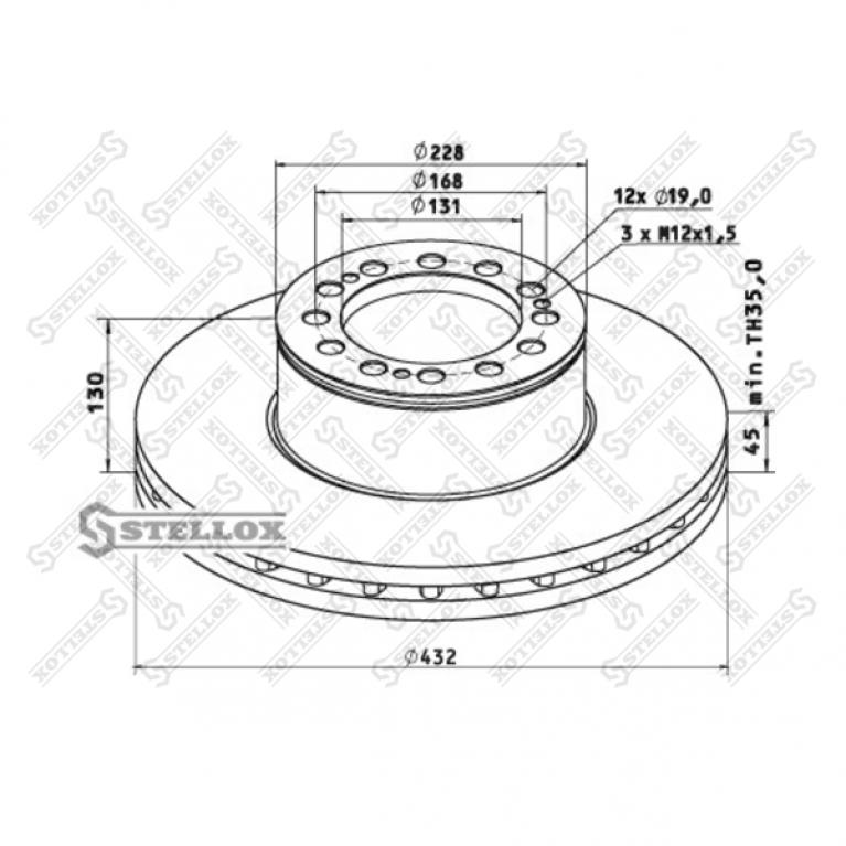 Тормозной диск для MAN TGA 432/131x45/130 81508030023 960321