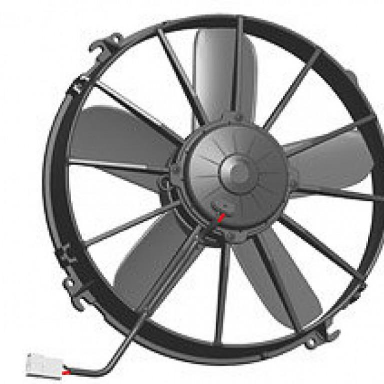 Электродвигатель отопителя осевой кондиционера, D=305mm, 24V VA01BP70/LL36S24V SPAL VA01BP70/LL36S24V