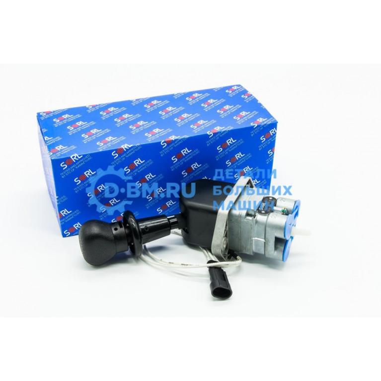 Кран ручного тормоза 3-х выводной с датчиком на панель