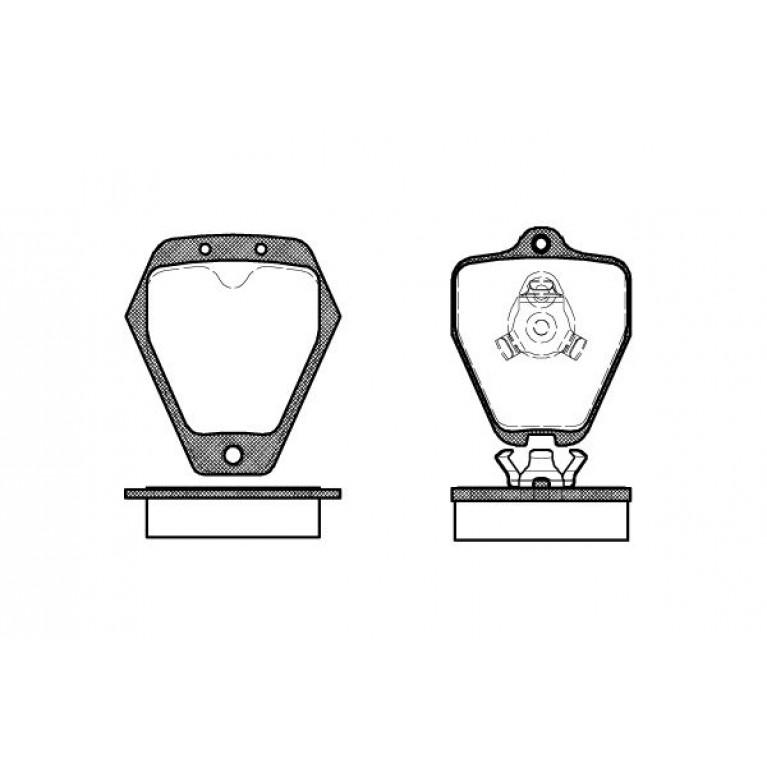 Комплект тормозных колодок, диско 2508.10 ROADHOUSE
