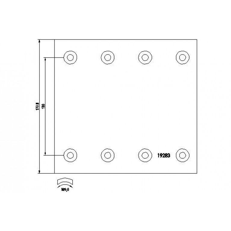 накладки тормозные STD 420х178