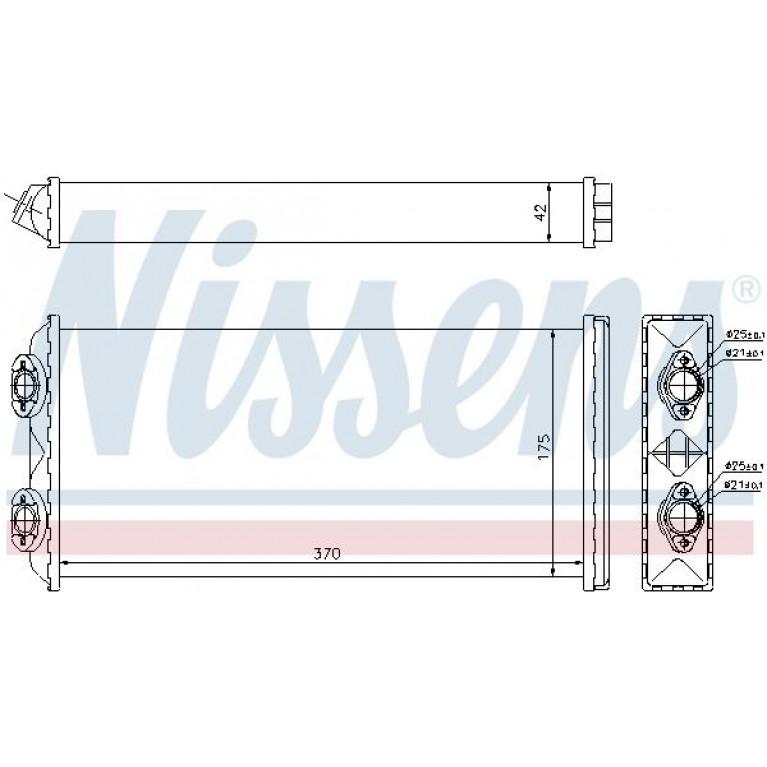 Радиатор отопителя MAN F2000 (370х190х42) NISSENS