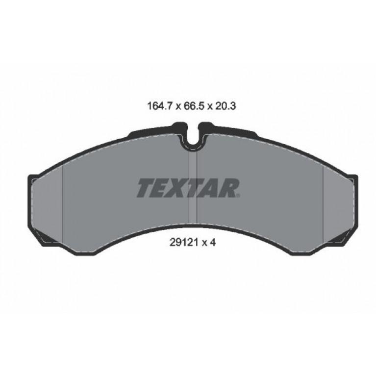 Колодки тормозные IVECO RENAULT дисковые (165x66x20) (4шт.) TEXTAR
