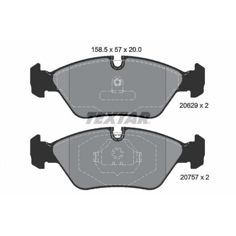 Колодки тормозные BMW 3 (E30) (88-91) передние дисковые (4шт.) TEXTAR