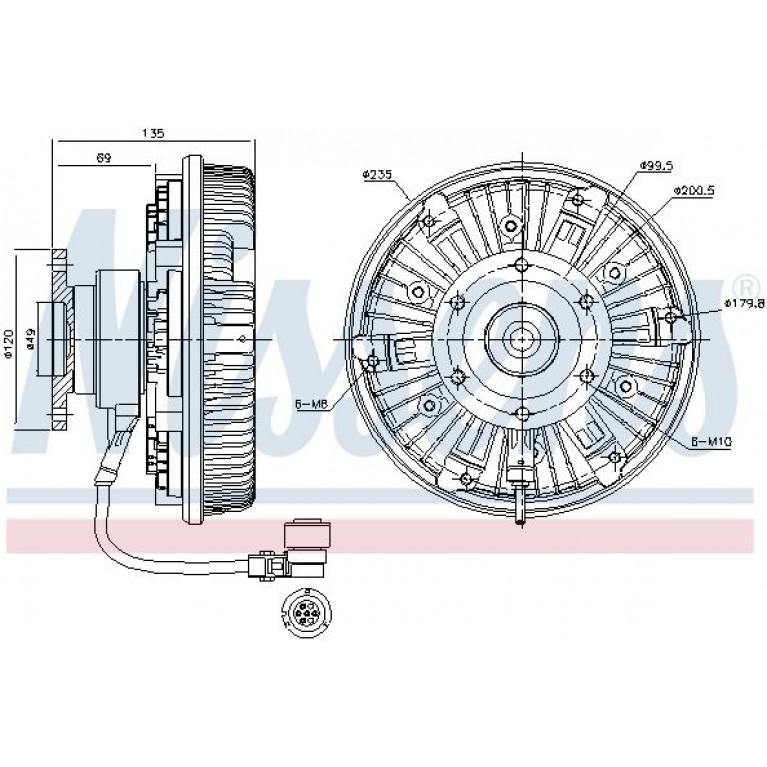 Гидромуфта OM501LA MB Actros