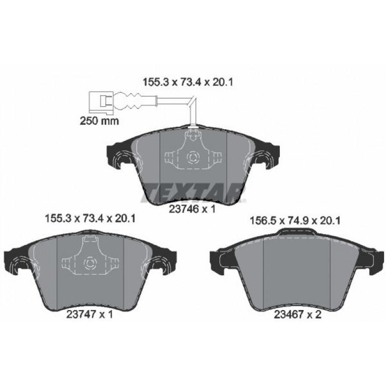 2374602 колодки дисковые передние!\ VW T5/Multivan 2.0/3.2/1.9TDi/2.5TDi 03> диски 16