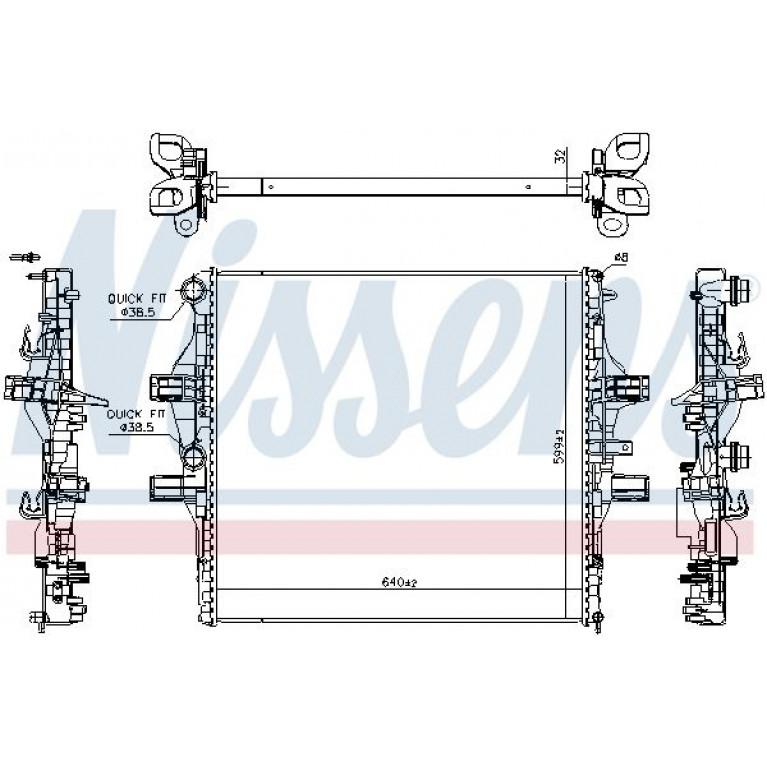Радиатор охлаждения двигателя Iveco Daily 11