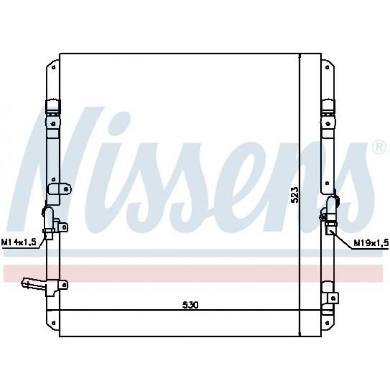 Радиатор кондиционера TOYOTA Land Cruiser (J100) NISSENS