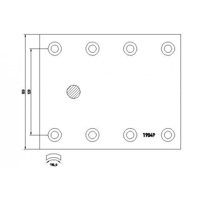 накладки тормозные STD 410х160