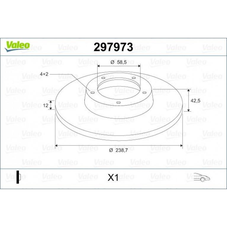 Диск тормозной ВАЗ-2108,ИЖ-2126 1шт. VALEO