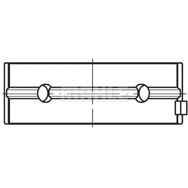Вкладыши  коренные 0,5 MAN D2556/D2566/D2866  (пара)