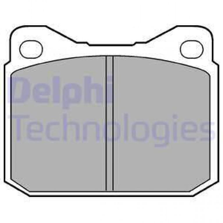 Колодки тормозные MERCEDES S (W116) передние (4шт.) DELPHI