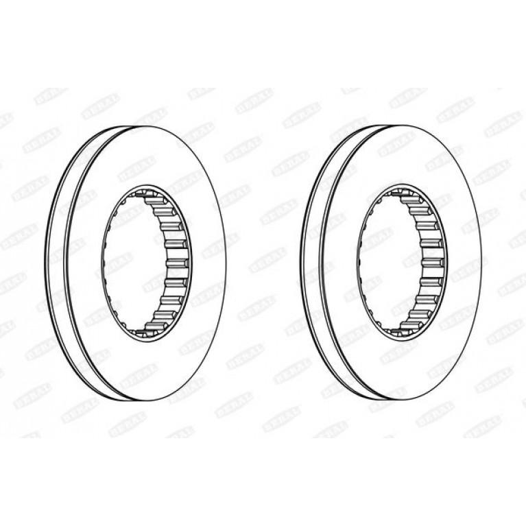 диск торм.!435x45x220x45 передний, без монтаж/к-та ER750952\RVI Premium