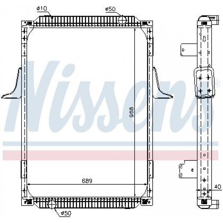 Радиатор PREMIUM 420Dci (размер 968 x 689 x 40 mm)