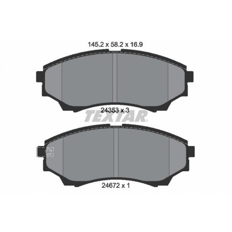 Колодки тормозные FORD Ranger (99-11) передние (4шт.) TEXTAR