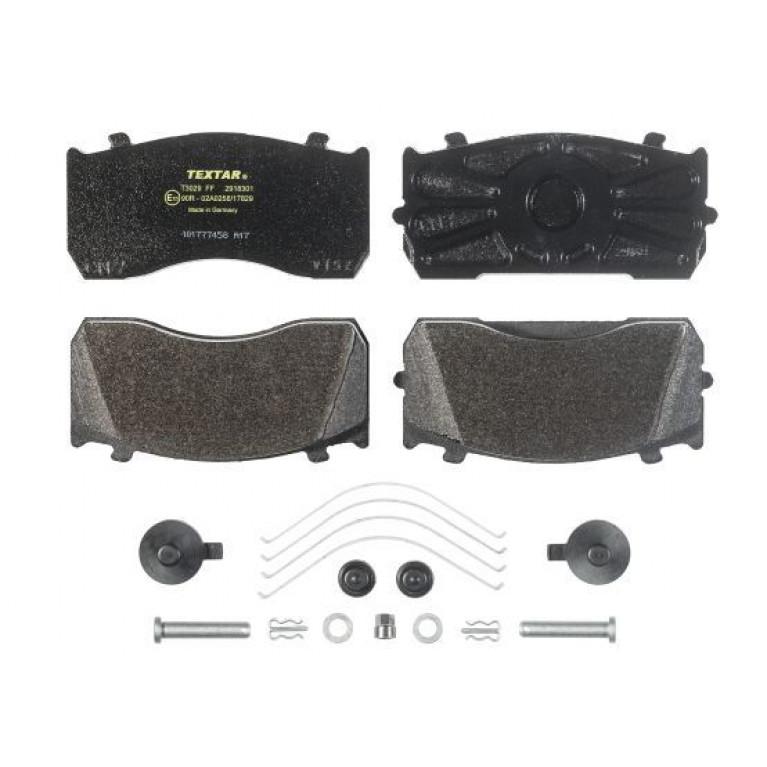 Колодки тормозные MERCEDES Atego MAN TGL ГАЗ-33104 передние/задние дисковые (4шт.) TEXTAR