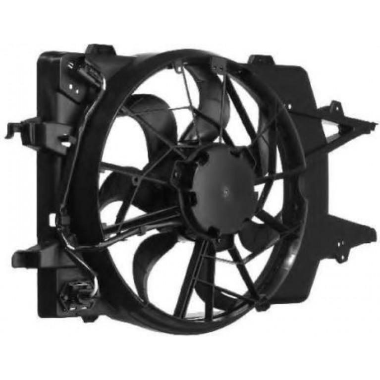 Вентилятор радиатора основного (с кожухом) LUZAR