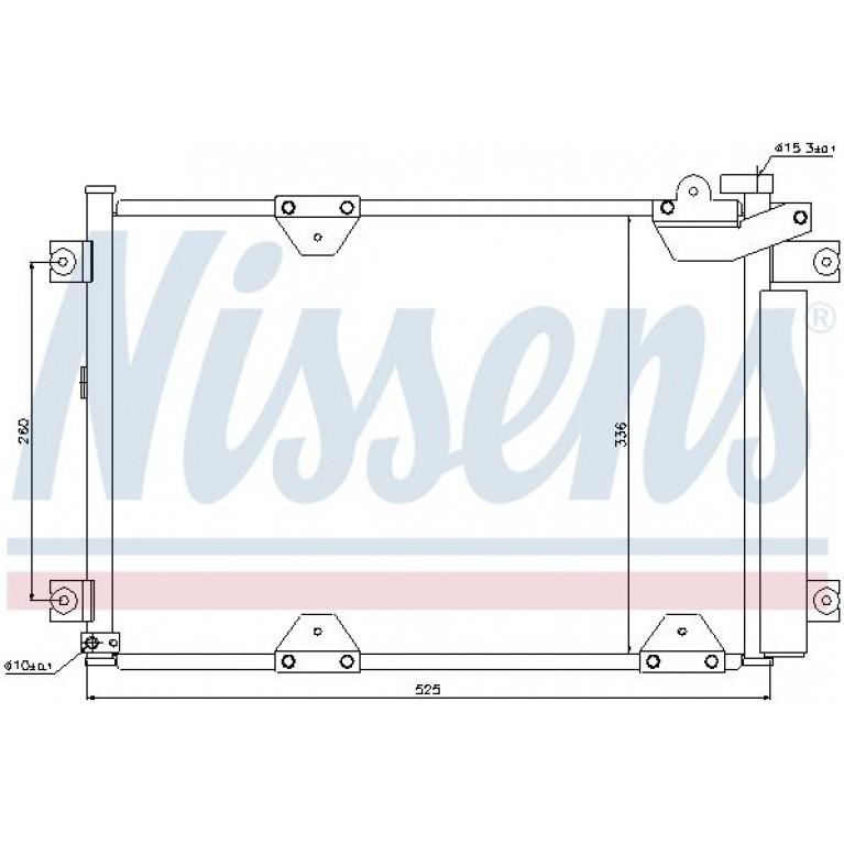 Радиатор кондиционера SUZUKI Grand Vitara (98-05) NISSENS