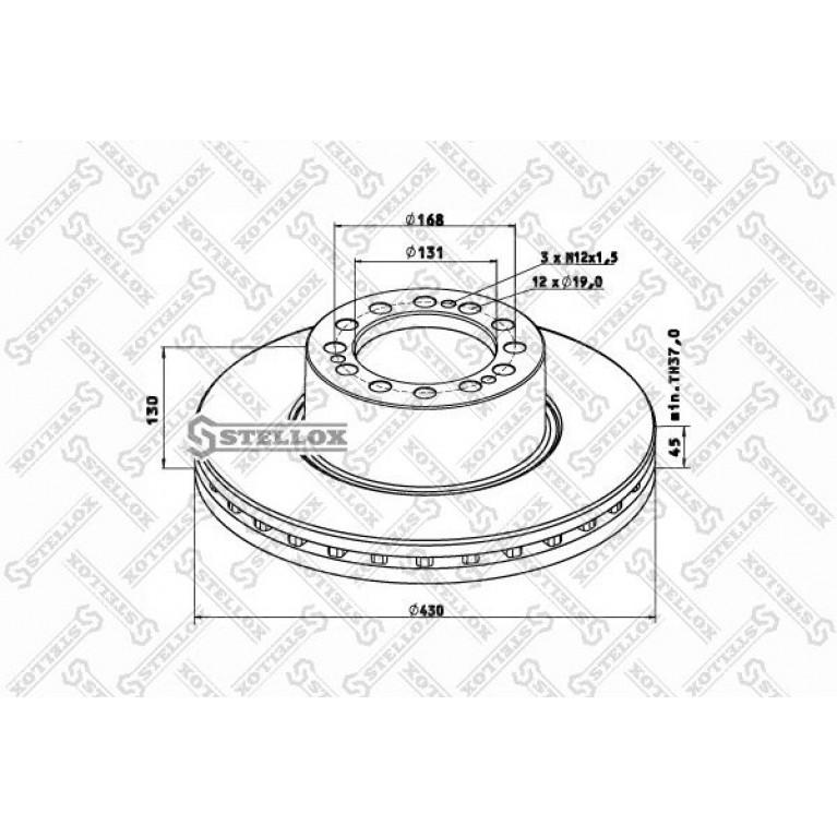 85-00815-SX диск тормозной !вентилир. 430/131x45/130 12n-168-d19 \SAF SK RB 9022
