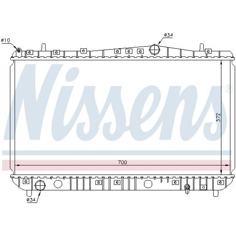 Радиатор CHEVROLET Lacetti (1.4/1.6i) 16V NISSENS