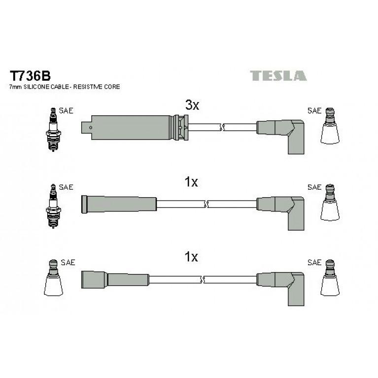 Провод высоковольтный DAEWOO Nexia (1.5 SOHC) комплект TESLA