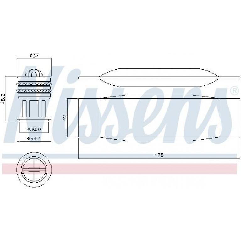 Осушитель кондиционера AUDI A3/S3 1.2TFSI 03- NISSENS