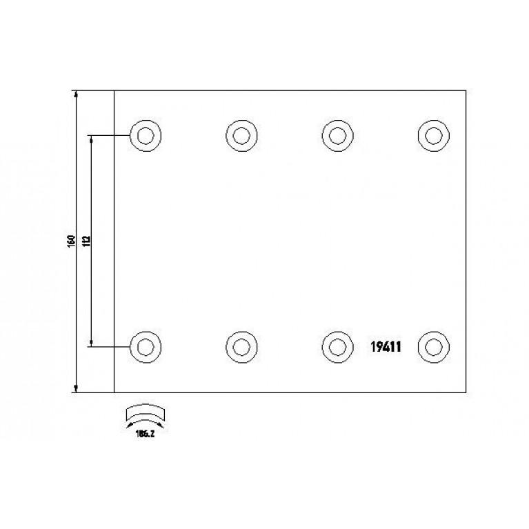 накладки тормозные STD 420х160