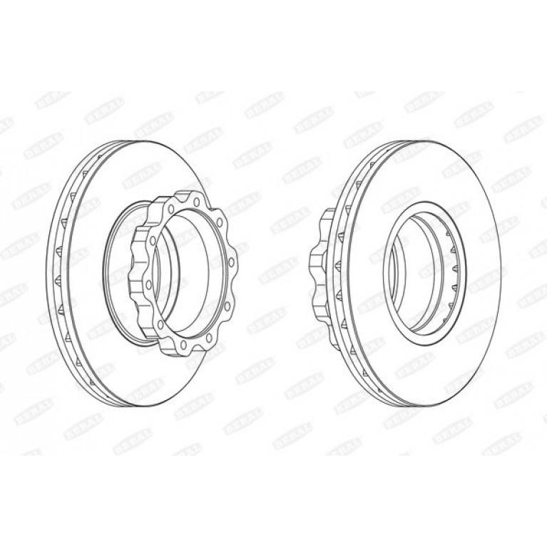 диск тормозной 432мм
